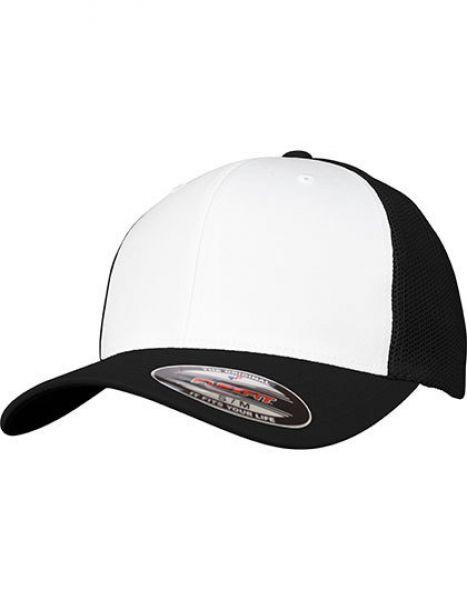 Flexfit Mesh Colored Front Cap - Caps - Netz- & Sport-Caps - FLEXFIT Black - White - Black