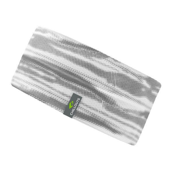 CHILLOUTS Stirnband Minto weiss grau | Damen & Herren Haarband Camouflage