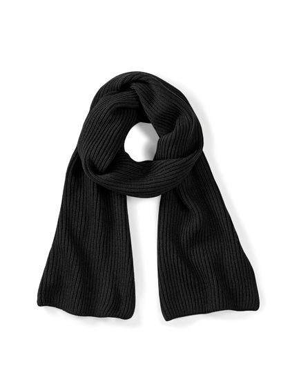Metro Knitted Scarf - Winteraccessoires & Mützen - Schals - Beechfield Black