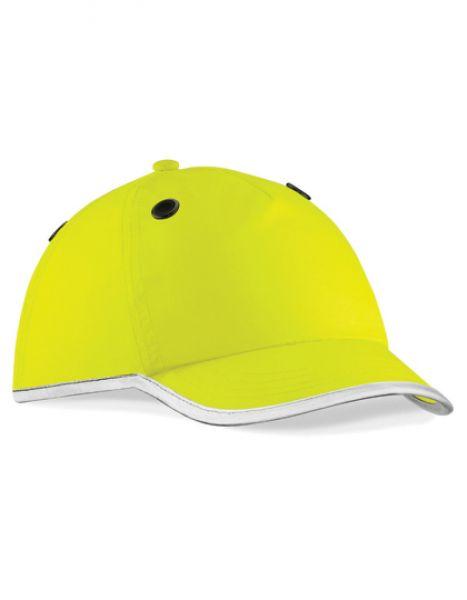 Enhanced-Viz EN812 Bump Cap - Caps - 5-Panel-Caps - Beechfield Fluorescent Yellow