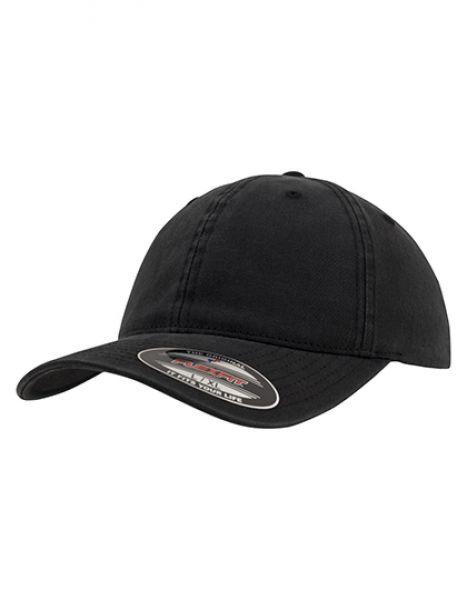 Garment Washed Cotton Dad Hat - Caps - 6-Panel-Caps - FLEXFIT Black