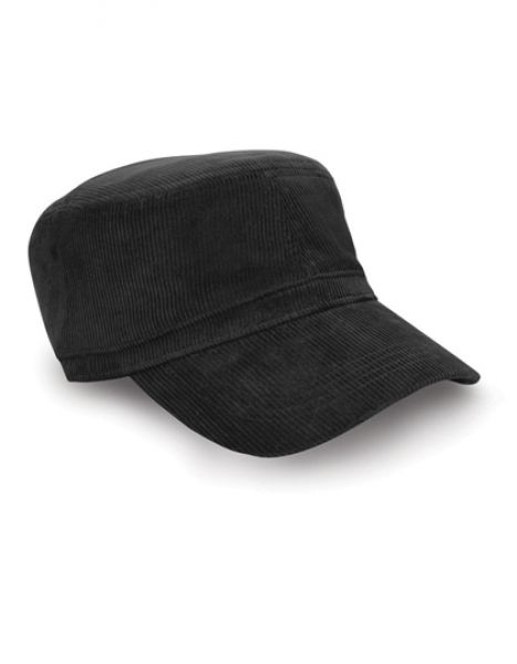 Urban Trooper Corduroy Cap - Caps - 3-Panel-Caps - Result Headwear Black