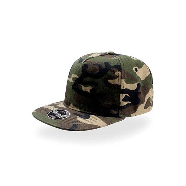 Unisex 5-Panel Cap Camouflage Snapback Cap Mütze