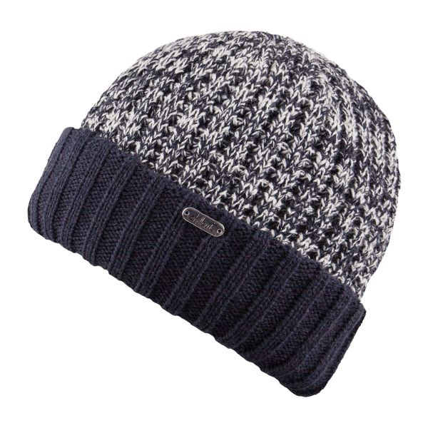 CHILLOUTS Jimmy Hat Herren Wintermütze in Navy Weiß | Strickmütze