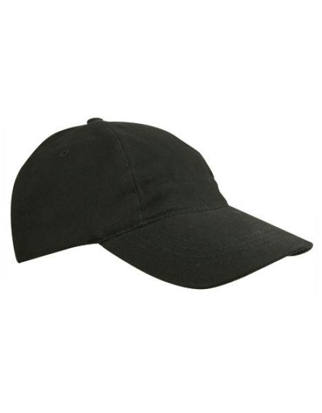 Kids` Brushed Cap - Kinderbekleidung - Kinder Caps & Mützen - Printwear Black