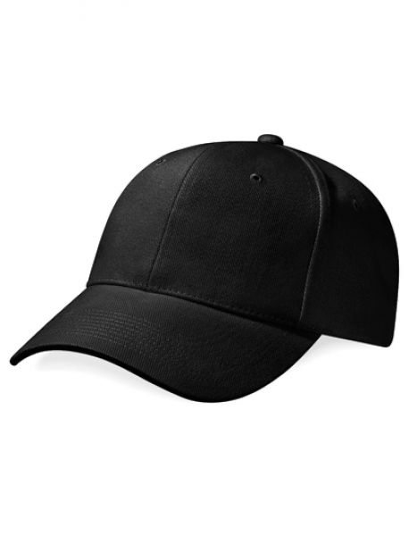 Pro-Style Heavy Brushed Cotton Cap - Caps - 6-Panel-Caps - Beechfield Black