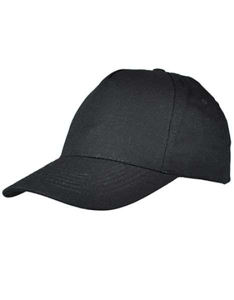 5 Panel Cap - Printwear Black