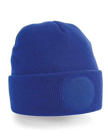 Circular Patch Beanie - Beechfield Bright Royal
