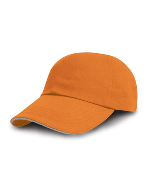 Printers - Embroiderers Cap - Caps - 5-Panel-Caps - Result Headwear Amber - Heather Grey
