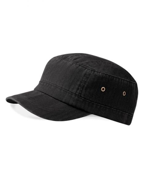 Urban Army Cap - Caps - 7-Panel-Caps - Beechfield Vintage Black