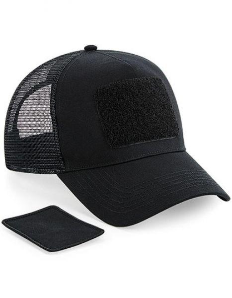 Patch Snapback Trucker Cap - Beechfield Black