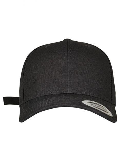 6-Panel Curved Metal Snap Cap - FLEXFIT Black