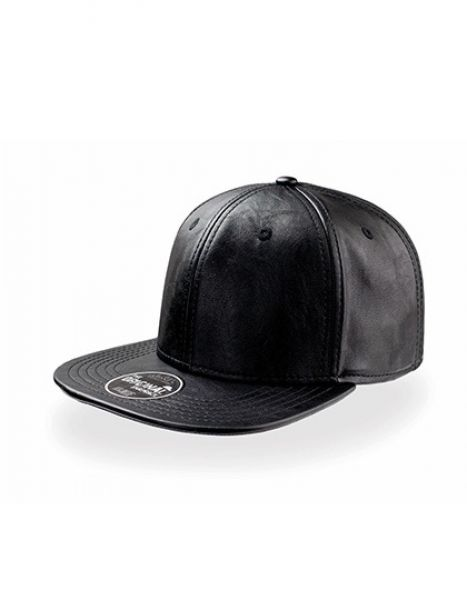 Snap Ecoleather - Snap Back - Caps - 6-Panel-Caps - Atlantis Black