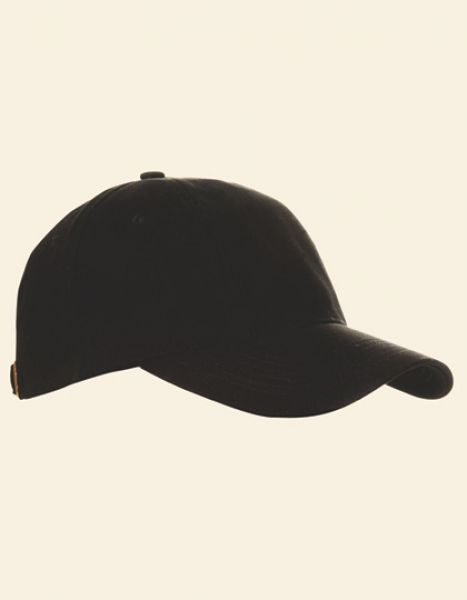 Baumwollcap low profile-brushed - Caps - 6-Panel-Caps - Printwear Black
