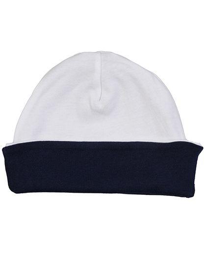 Baby Reversible Slouch Hat - Kinderbekleidung - Baby Lätzchen & Mützen - Babybugz White - Nautical Navy