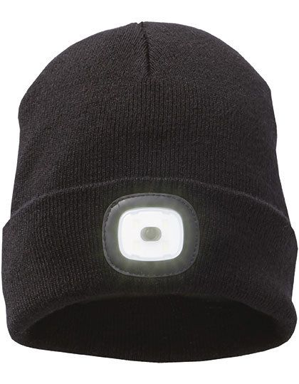 Mighty LED Knit Beanie - Elevate Black