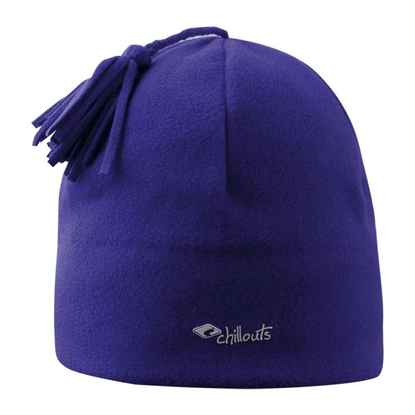 CHILLOUTS Freeze Fleece Pom Hat Wintermütze in Lila | Bommel Mütze
