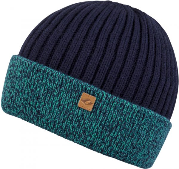 CHILLOUTS Felino Kid Hat Kinder Beanie Mütze in Türkis/Navy Wintermütze