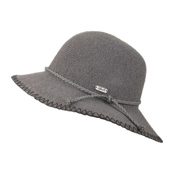 CHILLOUTS Riva Hat in Grau S/M | Damenhut | Schlapphut |Sommerhut