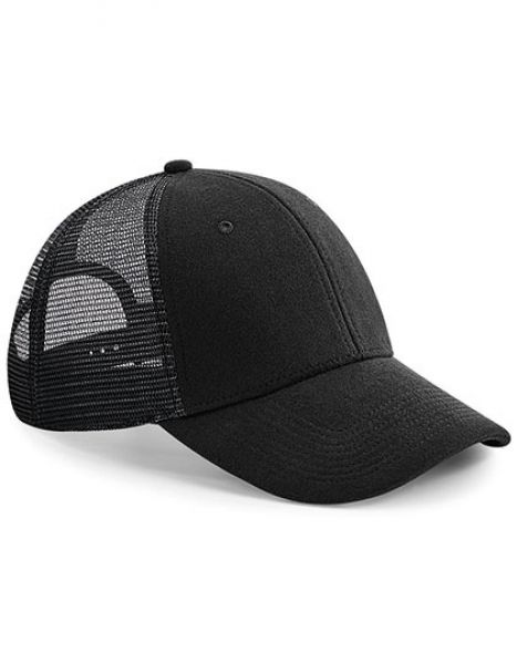 Jersey Athleisure Trucker Cap - Beechfield Black