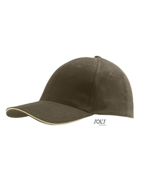 Six Panel Cap Buffalo - Caps - 6-Panel-Caps - SOL´S Army - Beige