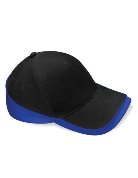 Teamwear Competition Cap - Caps - 5-Panel-Caps - Beechfield Black - Bright Royal