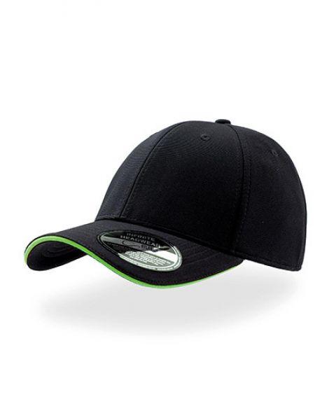 Caddy - Baseball Cap - Caps - 6-Panel-Caps - Atlantis Black - Green