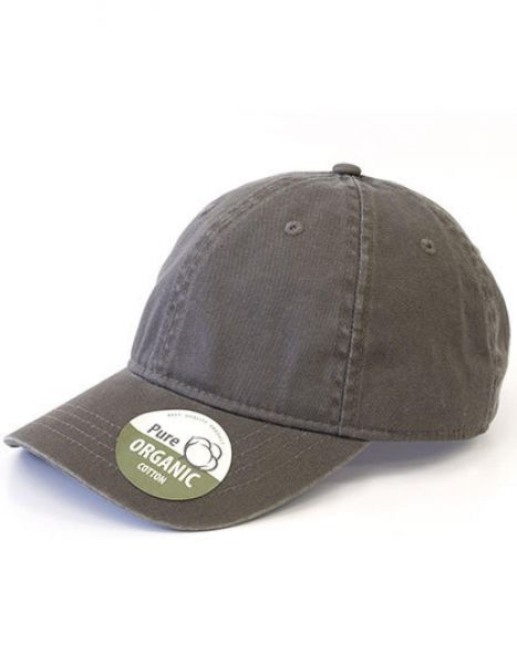 Organic Cotton Cap Unstructured - Brain Waves Charcoal
