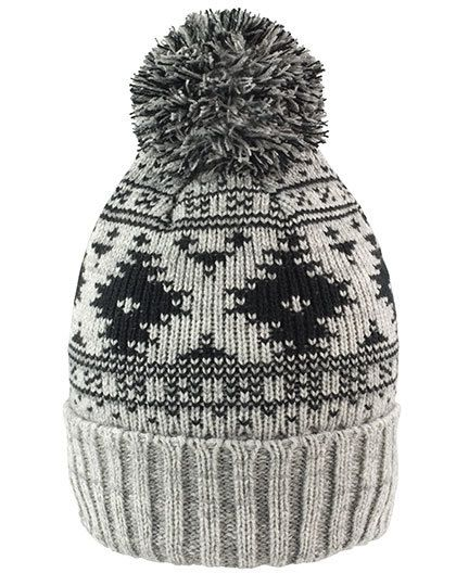 Deluxe Fair Isle Hat - Winteraccessoires & Mützen - Mützen - Result Winter Essentials Grey - Black