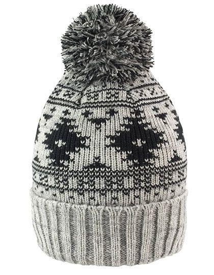 Deluxe Fair Isle Hat - Winteraccessoires & Mützen - Mützen - Result Winter Essentials Grey - Black