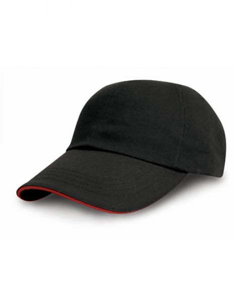 Heavy Cotton Drill Pro Style - Caps - 6-Panel-Caps - Result Headwear Black - Red