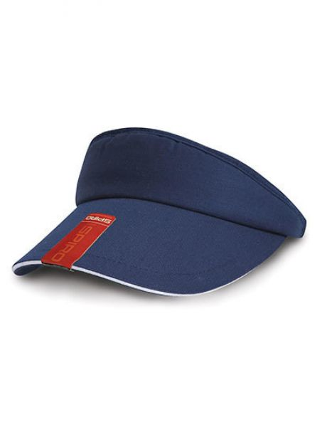 Herringbone Sun Visor with Sandwich Peak - Caps - Sonnenblenden & Schildmützen - Result Headwear Navy - White